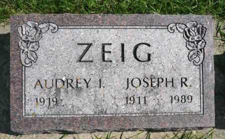 ZEIG, AUDREY I. - Minnehaha County, South Dakota   AUDREY I. ZEIG - South Dakota Gravestone Photos