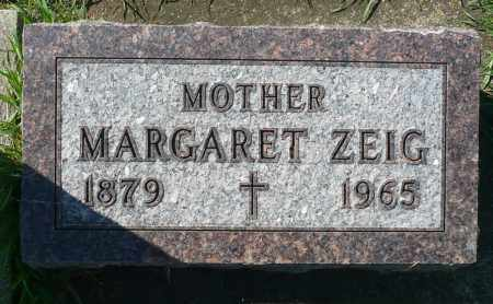 ZEIG, MARGARET - Minnehaha County, South Dakota   MARGARET ZEIG - South Dakota Gravestone Photos