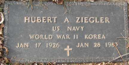 ZIEGLER, HUBERT A. (WWII - KOREA) - Minnehaha County, South Dakota | HUBERT A. (WWII - KOREA) ZIEGLER - South Dakota Gravestone Photos