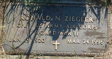 ZIEGLER, RONALD N. (WW II) - Minnehaha County, South Dakota | RONALD N. (WW II) ZIEGLER - South Dakota Gravestone Photos