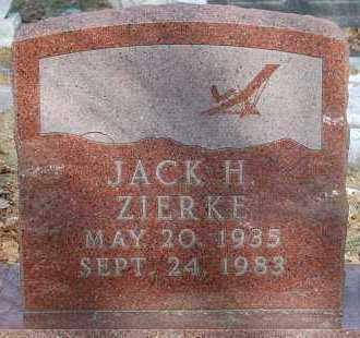 ZIERKE, JACK H. - Minnehaha County, South Dakota | JACK H. ZIERKE - South Dakota Gravestone Photos