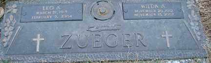 ZUECER, LEO A. - Minnehaha County, South Dakota | LEO A. ZUECER - South Dakota Gravestone Photos