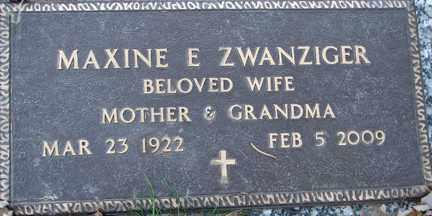 ZWANZIGER, MAXINE EVANGELINE - Minnehaha County, South Dakota | MAXINE EVANGELINE ZWANZIGER - South Dakota Gravestone Photos