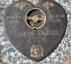 ZYCH, JOSEPH DANIEL - Minnehaha County, South Dakota   JOSEPH DANIEL ZYCH - South Dakota Gravestone Photos