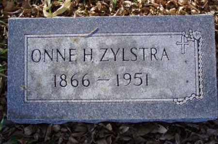 ZYLSTRA, ONNE H. - Minnehaha County, South Dakota | ONNE H. ZYLSTRA - South Dakota Gravestone Photos