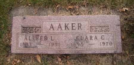 AAKER, ALFRED L - Moody County, South Dakota | ALFRED L AAKER - South Dakota Gravestone Photos