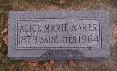 AAKER, ALICE MARIE - Moody County, South Dakota | ALICE MARIE AAKER - South Dakota Gravestone Photos