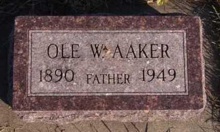 AAKER, OLE W - Moody County, South Dakota   OLE W AAKER - South Dakota Gravestone Photos