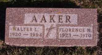 AAKER, FLORENCE M - Moody County, South Dakota | FLORENCE M AAKER - South Dakota Gravestone Photos