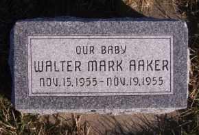 AAKER, WALTER MARK - Moody County, South Dakota | WALTER MARK AAKER - South Dakota Gravestone Photos
