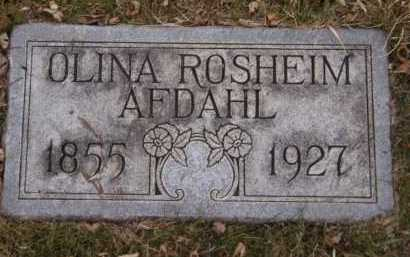 ROSHEIM AFDAHL, OLINA - Moody County, South Dakota | OLINA ROSHEIM AFDAHL - South Dakota Gravestone Photos