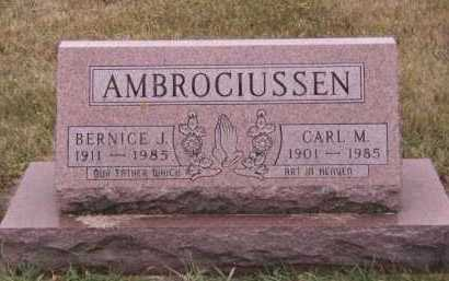 BONRUD AMBROCIUSSEN, BERNICE J - Moody County, South Dakota | BERNICE J BONRUD AMBROCIUSSEN - South Dakota Gravestone Photos
