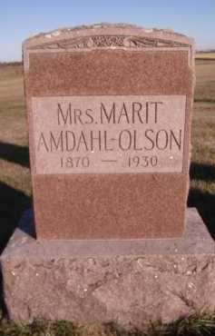 AMDAHL-OLSON, MARIT - Moody County, South Dakota | MARIT AMDAHL-OLSON - South Dakota Gravestone Photos