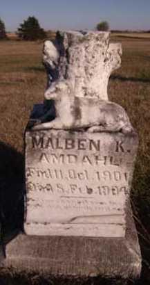 AMDAHL, MALBEN K - Moody County, South Dakota   MALBEN K AMDAHL - South Dakota Gravestone Photos