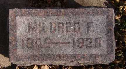 ANDERSEN, MILDRED F - Moody County, South Dakota | MILDRED F ANDERSEN - South Dakota Gravestone Photos