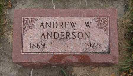 ANDERSON, ANDREW W - Moody County, South Dakota | ANDREW W ANDERSON - South Dakota Gravestone Photos