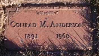 ANDERSON, CONRAD M - Moody County, South Dakota | CONRAD M ANDERSON - South Dakota Gravestone Photos
