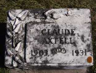 AXTELL, CLAUDE - Moody County, South Dakota | CLAUDE AXTELL - South Dakota Gravestone Photos