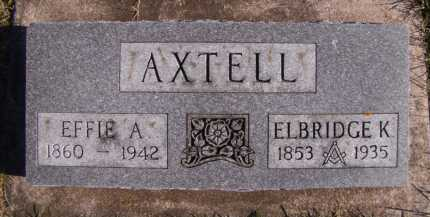 AXTELL, ELBRIDGE K - Moody County, South Dakota | ELBRIDGE K AXTELL - South Dakota Gravestone Photos