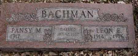 BACHMAN, PANSY M. - Moody County, South Dakota | PANSY M. BACHMAN - South Dakota Gravestone Photos