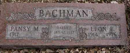 BACHMAN, LEON E. - Moody County, South Dakota | LEON E. BACHMAN - South Dakota Gravestone Photos