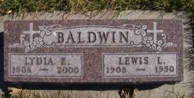 BALDWIN, LEWIS L - Moody County, South Dakota | LEWIS L BALDWIN - South Dakota Gravestone Photos