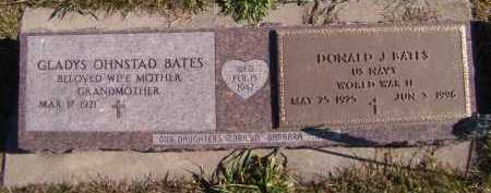 OHNSTAD BATES, GLADYS - Moody County, South Dakota | GLADYS OHNSTAD BATES - South Dakota Gravestone Photos