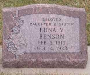 BENSON, EDNA V - Moody County, South Dakota | EDNA V BENSON - South Dakota Gravestone Photos