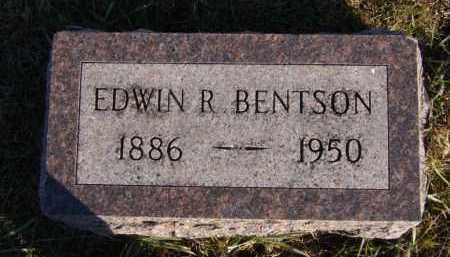 BENTSON, EDWIN R - Moody County, South Dakota | EDWIN R BENTSON - South Dakota Gravestone Photos