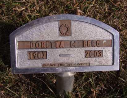 BERG, DORETTA M - Moody County, South Dakota | DORETTA M BERG - South Dakota Gravestone Photos