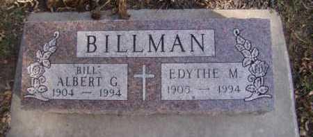 "BILLMAN, ALBERT ""BILL"" G - Moody County, South Dakota | ALBERT ""BILL"" G BILLMAN - South Dakota Gravestone Photos"