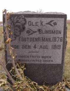 BLINSMON, OLE K - Moody County, South Dakota | OLE K BLINSMON - South Dakota Gravestone Photos