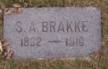 BRAKKE, S A - Moody County, South Dakota   S A BRAKKE - South Dakota Gravestone Photos
