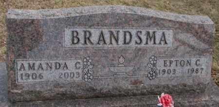 BRANDSMA, EPTON C. - Moody County, South Dakota | EPTON C. BRANDSMA - South Dakota Gravestone Photos