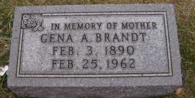 BRANDT, GENA A - Moody County, South Dakota   GENA A BRANDT - South Dakota Gravestone Photos