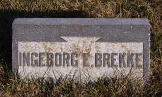 BREKKE, INGEBORG E - Moody County, South Dakota   INGEBORG E BREKKE - South Dakota Gravestone Photos