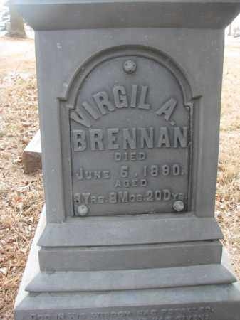 BRENNAN, VIRGIL A. (CLOSE UP) - Moody County, South Dakota | VIRGIL A. (CLOSE UP) BRENNAN - South Dakota Gravestone Photos