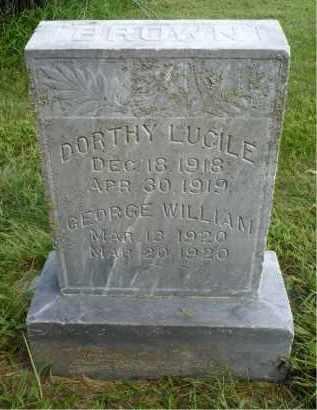 BROWN, GEORGE WILLIAM - Moody County, South Dakota | GEORGE WILLIAM BROWN - South Dakota Gravestone Photos