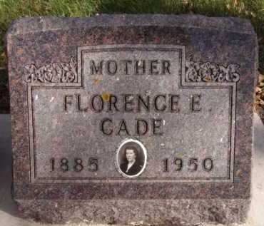CADE, FLORENCE E - Moody County, South Dakota | FLORENCE E CADE - South Dakota Gravestone Photos