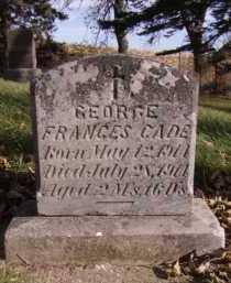CADE, GEORGE FRANCES - Moody County, South Dakota | GEORGE FRANCES CADE - South Dakota Gravestone Photos