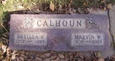 CALHOUN, ARVILLA V - Moody County, South Dakota | ARVILLA V CALHOUN - South Dakota Gravestone Photos
