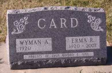 CARD, WYMAN A - Moody County, South Dakota | WYMAN A CARD - South Dakota Gravestone Photos