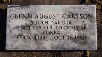 CARLSON, GLENN AUGUST (MILITARY) - Moody County, South Dakota | GLENN AUGUST (MILITARY) CARLSON - South Dakota Gravestone Photos