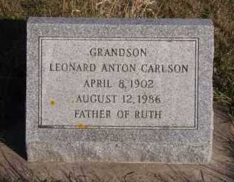 CARLSON, LEONARD ANTON - Moody County, South Dakota | LEONARD ANTON CARLSON - South Dakota Gravestone Photos