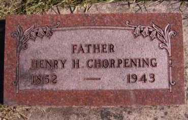 CHORPENING, HENRY H - Moody County, South Dakota | HENRY H CHORPENING - South Dakota Gravestone Photos