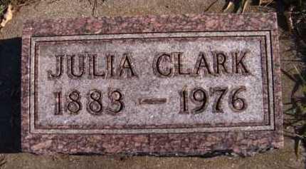 CLARK, JULIA - Moody County, South Dakota | JULIA CLARK - South Dakota Gravestone Photos
