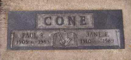 CONE, JANE F - Moody County, South Dakota | JANE F CONE - South Dakota Gravestone Photos