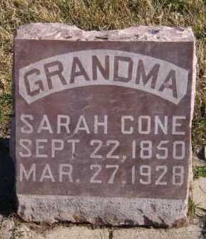 CONE, SARAH - Moody County, South Dakota | SARAH CONE - South Dakota Gravestone Photos