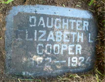 COOPER, ELIZABETH L. - Moody County, South Dakota | ELIZABETH L. COOPER - South Dakota Gravestone Photos