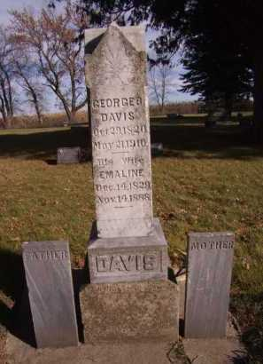 DAVIS, GEORGE B - Moody County, South Dakota | GEORGE B DAVIS - South Dakota Gravestone Photos